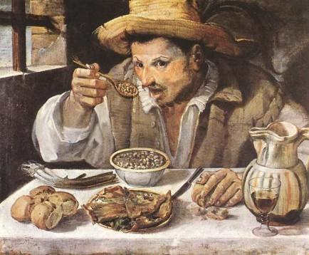 """""""Il mangiafagioli"""", di Annibale Carracci"""