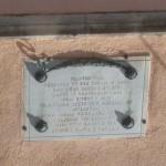 Villetta Barrea - targa per i caduti
