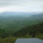 La salita per Forca d'Acero - zona lancio parapendio