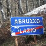 Valico di Forca d'acero - il confine tra Lazio e Abruzzo