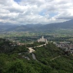 sulla salita per Montecassino