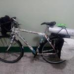 La bici a pieno carico