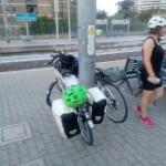 Stazione Trastevere, in attesa del treno per Termini con Agnese